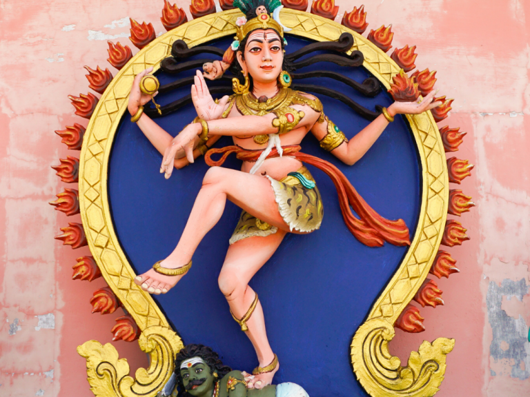 Last night I researched how Shiva stopped Kali when she got lost in her killing spree.